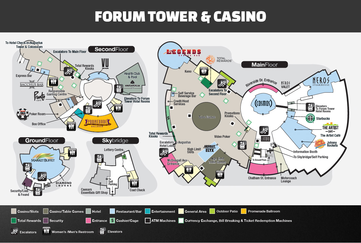 caesars palace las vegas casino map